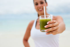 Fitness detox smoothie drink Royalty Free Stock Photography