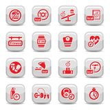 Fitness and diet icons Stock Image