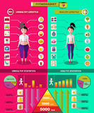 Fitness And Diet Infographic Concept Stock Images