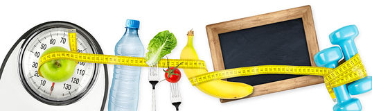 Fitness diet motivation panorama concept stock photos