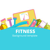 Fitness or diet vector background illustration design. Weight co Royalty Free Stock Image