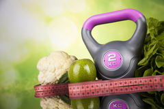Fitness diet and vitamins concept Stock Image
