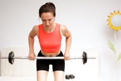 fitness domowa fizycznej kobieta Obraz Royalty Free