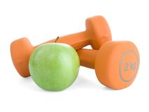 Fitness dumbbells Stock Photos