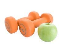 Fitness dumbbells Stock Photo