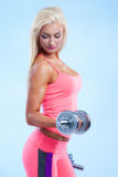 Fitness with dumbbells Royalty Free Stock Photo
