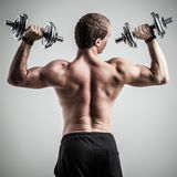Fitness with dumbbells Royalty Free Stock Photos
