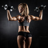 Fitness with dumbbells royalty free stock images
