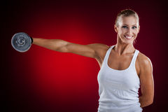 Fitness with dumbbells Royalty Free Stock Image