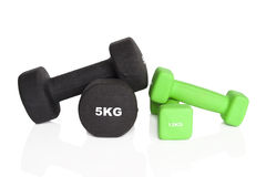Fitness dumbbells Stock Images