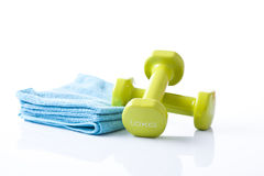 Fitness dumbbells Royalty Free Stock Image