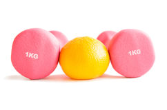Fitness dumbbells Stock Photos