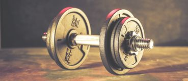 Fitness dumbbells, weights equipment, selective focus, fitness club royalty free stock photo