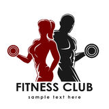 Fitness Emblem Stock Photography