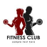 Fitness Emblem Stock Photography