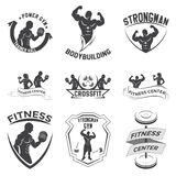 Fitness emblems, logo design. On a white background stock illustration