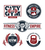 Fitness Emblems Set Royalty Free Stock Image