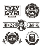 Fitness Emblems Set Royalty Free Stock Photography
