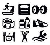 Fitness en sport Stock Foto