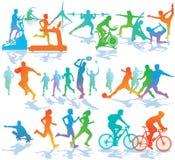 Fitness en sportenillustratie stock illustratie