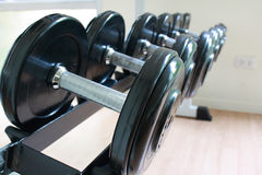 Fitness equipment(dumbbell) Royalty Free Stock Images