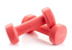 Fitness equipment dumbbells Stock Photography