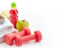Fitness equipment for healthy lifestyle Royalty Free Stock Image