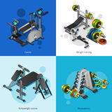 Fitness Equipment Image Set Stock Images