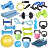 Fitness equipment isolated on white Stock Photography