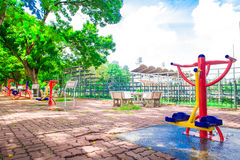 Fitness equipment in the park Royalty Free Stock Photos