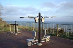 Seaside park Fitness equipment Stock Photo