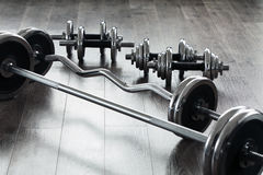 Fitness equipment. Equipment for a successful fitness Stock Photos