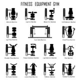 Fitness equipmrnt gym Royalty Free Stock Photos