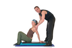 Fitness exercise Stock Images