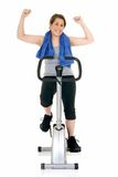 Fitness exercise, attractive teen Royalty Free Stock Image