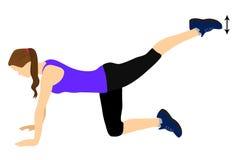 Fitness exercise for better butt. Fitness exercise for your better butt Stock Photography