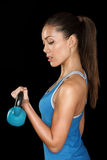 Fitness crossfit woman portrait royalty free stock photos