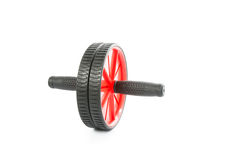 Fitness Exercise Red Roller isolated Stock Photos