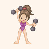 Fitness exercise theme elements vector,eps Stock Photo