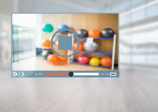 Fitness Exercise Video Player App Interface Royalty Free Stock Photography