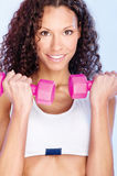 Fitness exercise with weight Stock Image