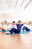 Fitness exercises Royalty Free Stock Image