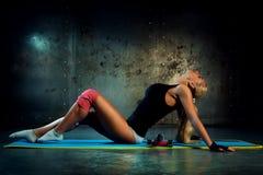 Fitness exercises Stock Photo