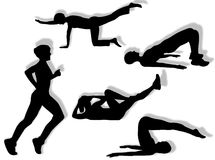 Fitness exercises Stock Image