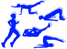 Fitness exercises Stock Photography