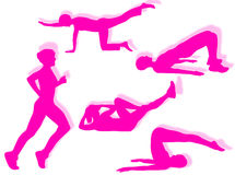 Fitness exercises Stock Photos