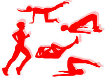 Fitness exercises Royalty Free Stock Photo