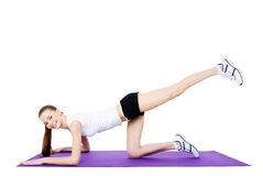 Fitness exercises Royalty Free Stock Photography