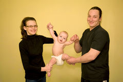 Fitness exercises with baby Royalty Free Stock Photos