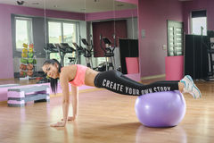 Fitness exercises with  ball Stock Photo